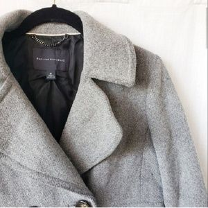 Banana Republic | Gray Wool Pea Coat